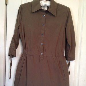 Converse One Star Safari Pocketed Shirt Dress